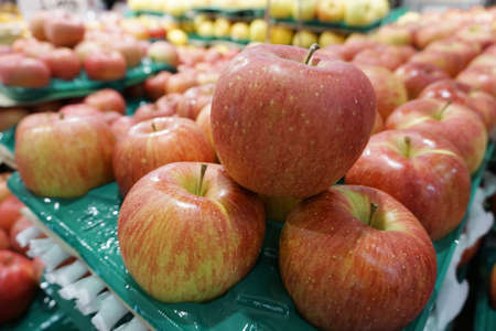 Apples Fuji sold in department stores. in Japan photo