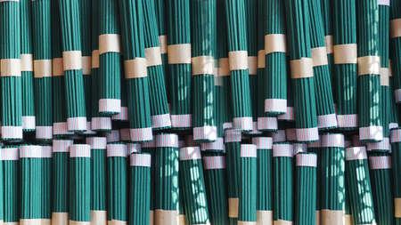 Green incense sticks in  Japan