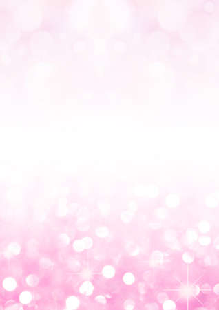Pink sugar sparkle background with focus in the front, valentines day
