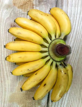 bananas on wood table