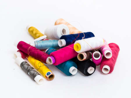 vividly: Heap of colorful threads Stock Photo
