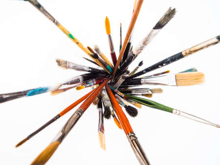 vividly: Abstract paintbrushes