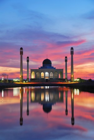 mosque sunset time 1