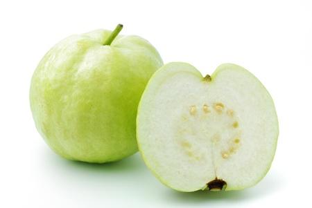 guayaba: Guayaba fruto tiene la piel verde y pulpa blanca, la vitamina C. Foto de archivo