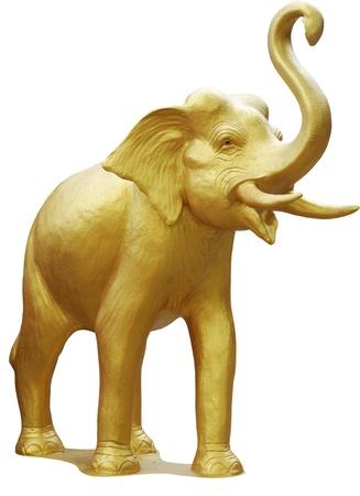 elephant head: The golden elephant sculptures adorn the houses of faith