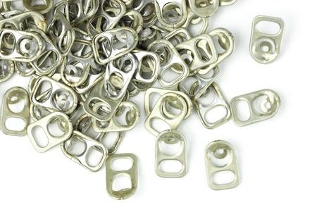 metallschrott: kann Ohr wird? von Aluminium. Abfälle werden recycelt Lizenzfreie Bilder