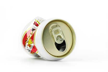 Cans made ??of aluminum. Waste is recycled photo