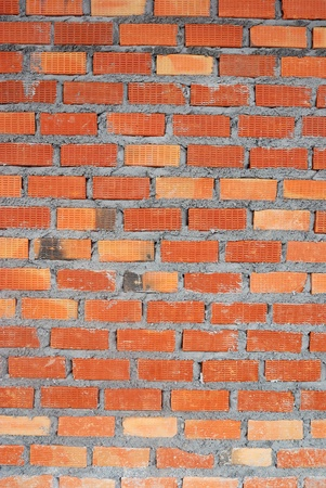 clay brick: clay brick wall used for construction work