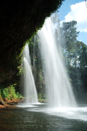 waterfalls in Sub-city of Pakse Champasak, south Laos.Looks like a cave Stock Photo