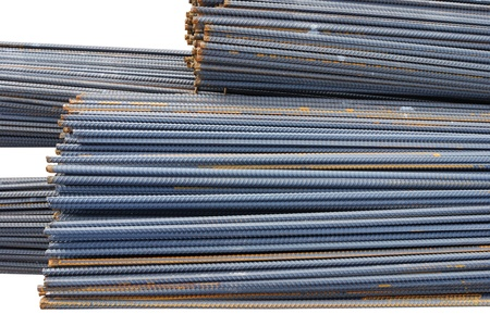 The steel bars used in construction  photo