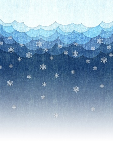 winter on stripe blue jean texture for background Stock Photo - 16398393