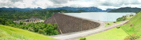 Dam in Thailand for electricity.  photo