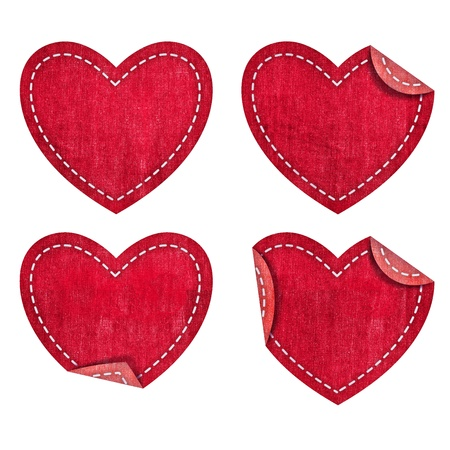 sewing pattern: Heart from jean Valentines day collection