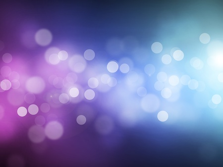 by light: Blue violet bokeh abstract light background