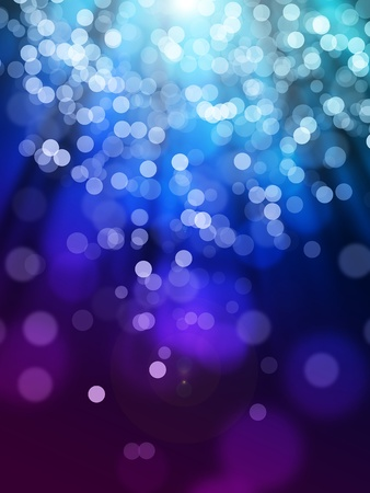 flares: Blue violet bokeh abstract light background