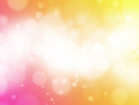 light background: Red yellow bokeh abstract light background