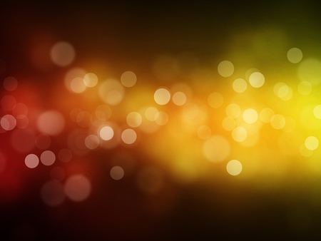 Red yellow bokeh abstract light background
