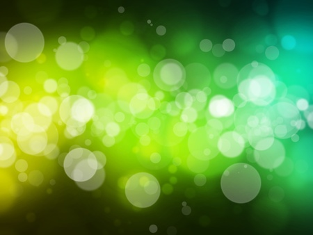 green yellow bokeh abstract light background Stock Photo