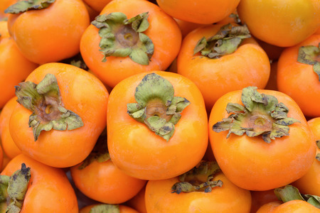 Persimmon fruit at the farmers market