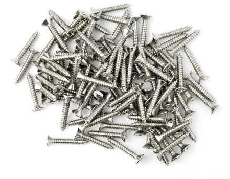 steel head: Screws on white background