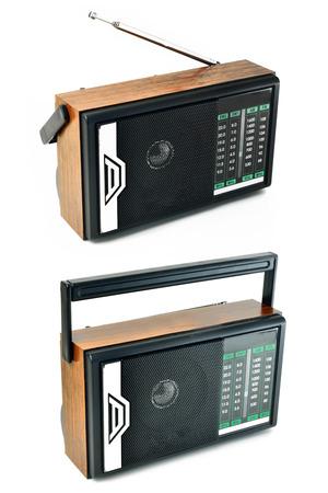 transistor: Transistor radio isolated on white background  Stock Photo