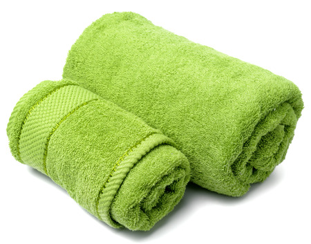 towel roll on a white background  photo