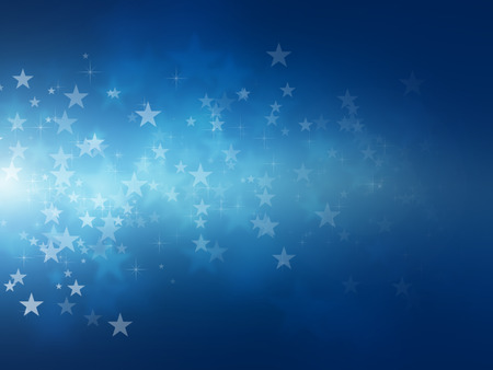 glow in the dark: blue star bokeh abstract light backgrounds