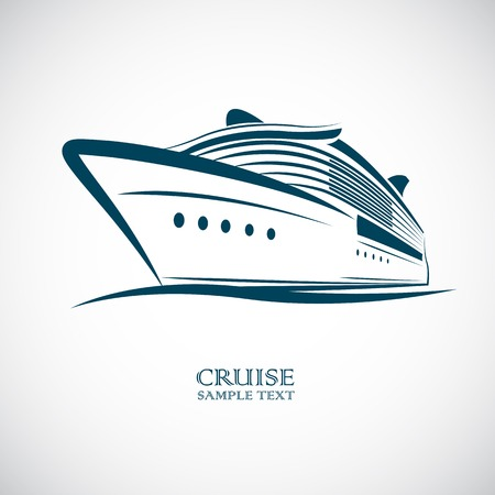 cruise ship vector illustration Vector