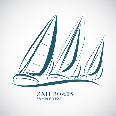 sailing boats vector illustration Vector
