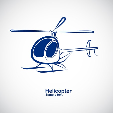 helicopter in perspective - vector illustration Vector