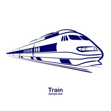 passenger railway speed train vector illustration