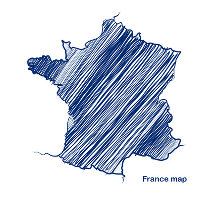 France map hand drawn background  Vector