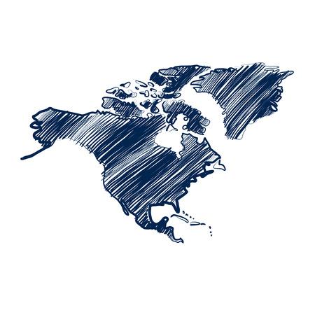 north america map: north america map hand drawn background