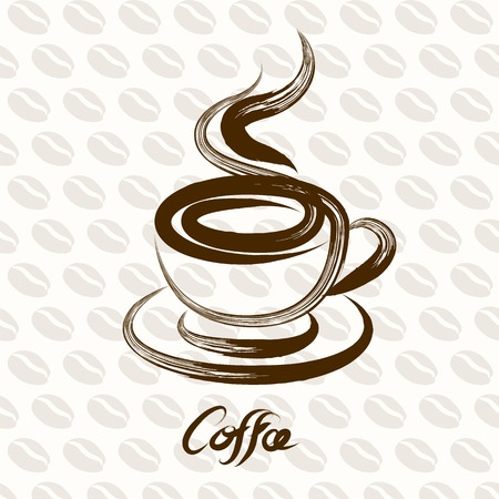 coffee cup vector: coffee cup hand drawn vector,illustration