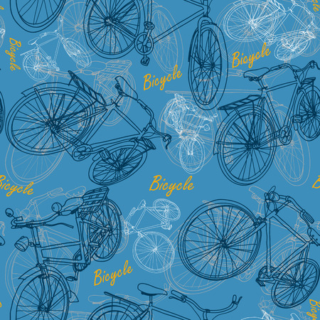 Bicycle seamless pattern background  Vector