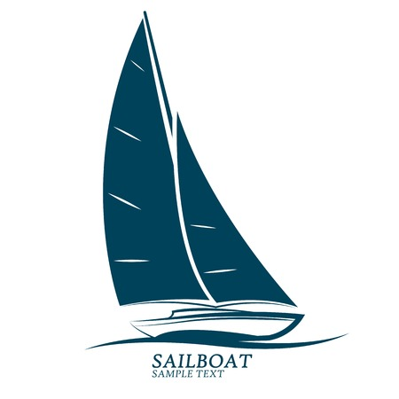 yacht isolated: sailing boats illustration