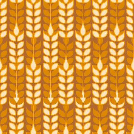 Wheat seamless pattern background vector ,illustration