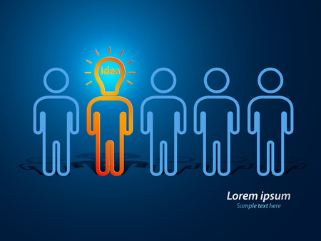 got: Idea concept, lamp head business human have got an idea