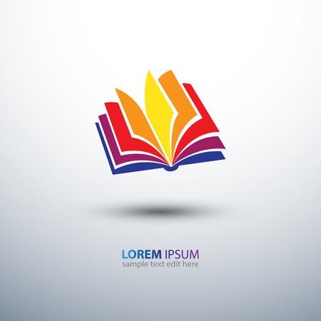 kleurrijke boek pictogram, vectorillustratie