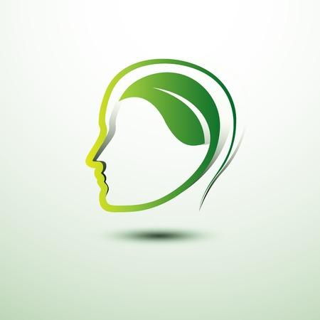 Piense icono concepto de eco verde