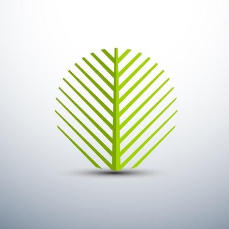 palm tree silhouette: Palm leaf icons circle shape,vector illustration Illustration