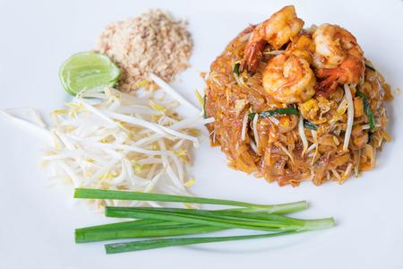 padthai: padthai with shrimp, famous Thai style noodle