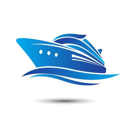 ocean liner: Cruise Ship with ocean liner illustration