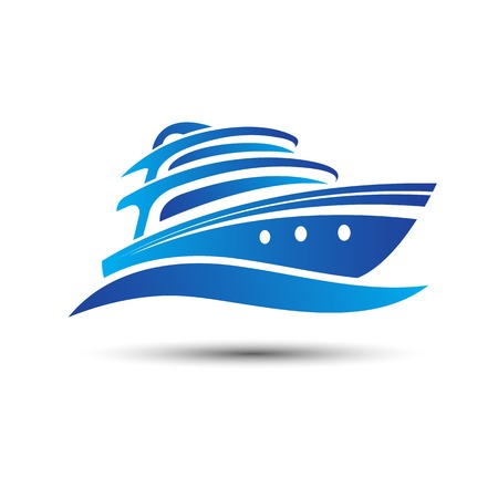 yacht: Yacht boat symbol illustration Illustration