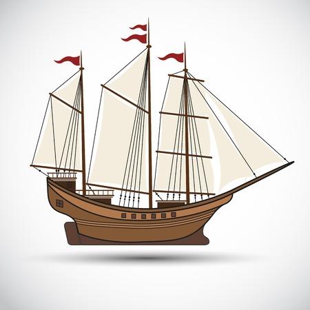 sailing ships: sailing ships colorVector illustration Illustration