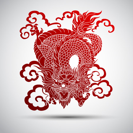 Illustration of Traditional chinese Dragon vector illustration