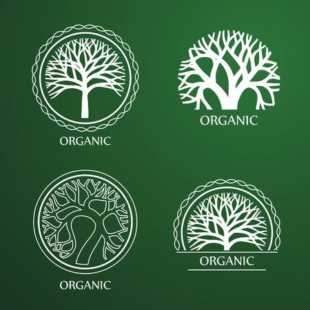 Green Circle Tree vector label design. eco concept.Vector Illustration. Stock fotó - 41615223