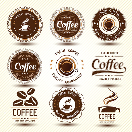 coffee bean: coffee label concept background ,vector illustration Illustration