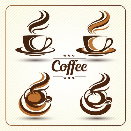 tasse de café mis vecteur, illustration