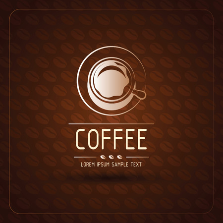 background coffee: coffee cup label concept background ,vector illustration